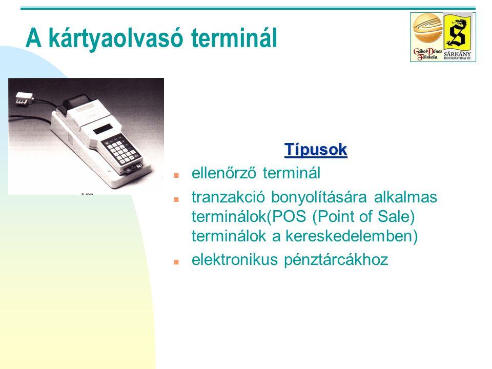 A kártyaolvasó terminál