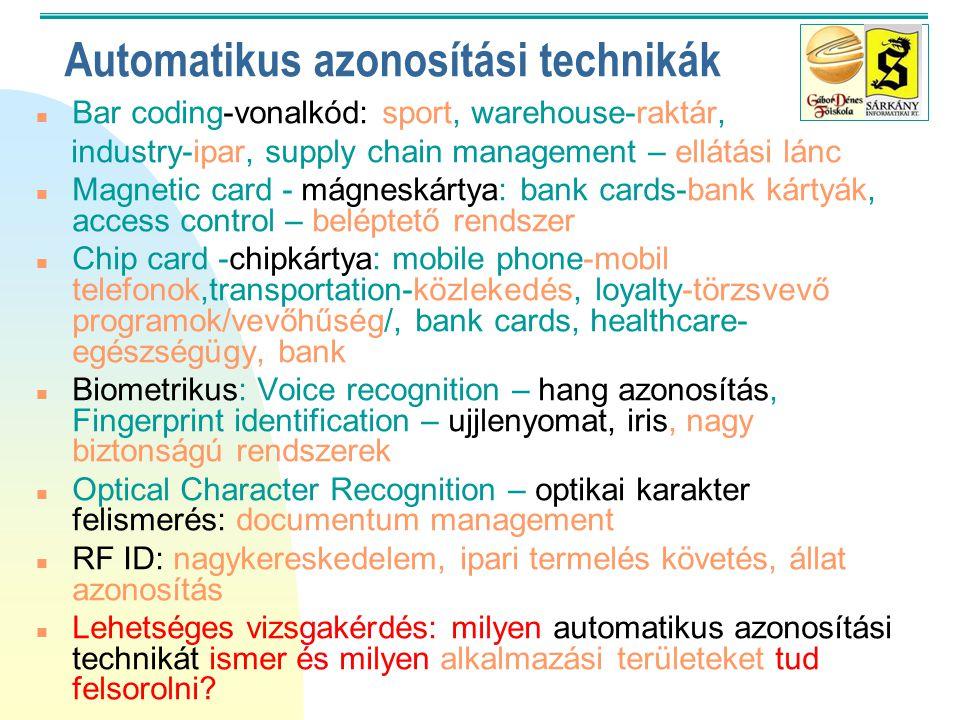 Automatikus azonosítási technikák