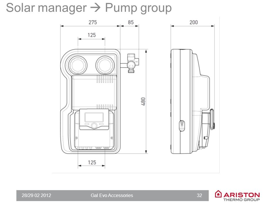 Solar manager  Pump group