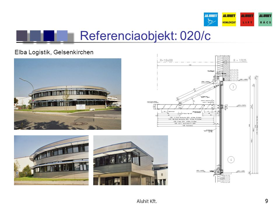 Referenciaobjekt: 020/c Elba Logistik, Gelsenkirchen Aluhit Kft.