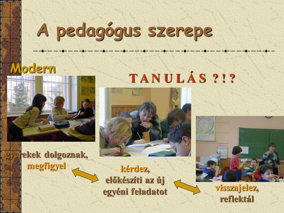 A pedagógus szerepe Modern T A N U L Á S !