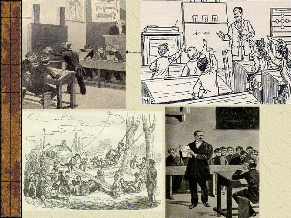 A képek az iskolarendszer változást és változatlanságát egyszerre kívánják szemléltetni.
