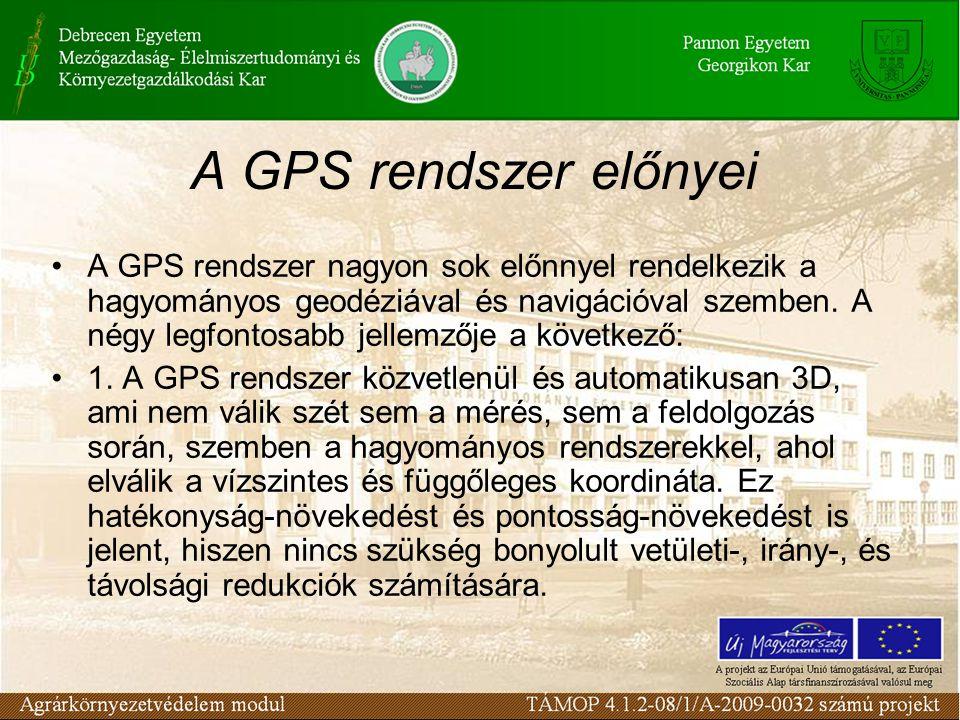 A GPS rendszer előnyei