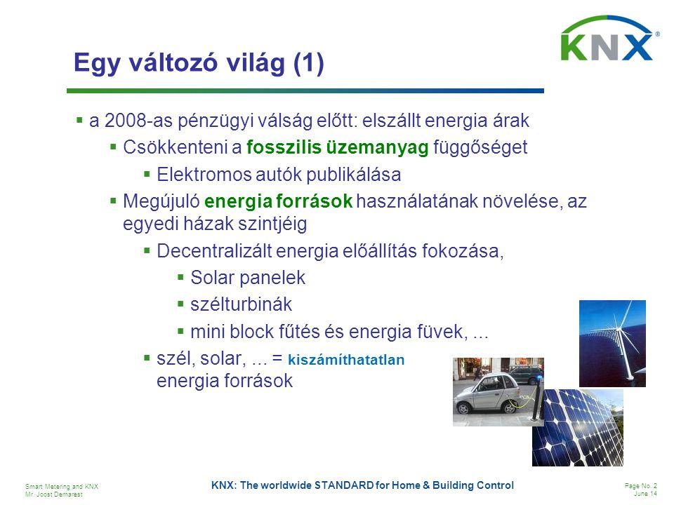 Egy változó világ (1) a 2008-as pénzügyi válság előtt: elszállt energia árak. Csökkenteni a fosszilis üzemanyag függőséget.