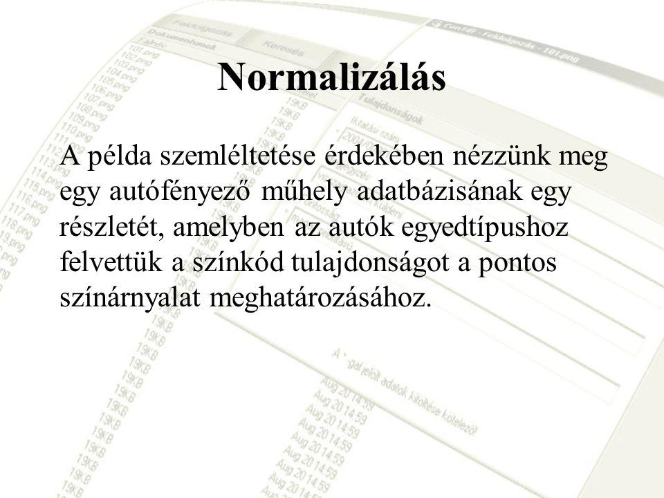 Normalizálás