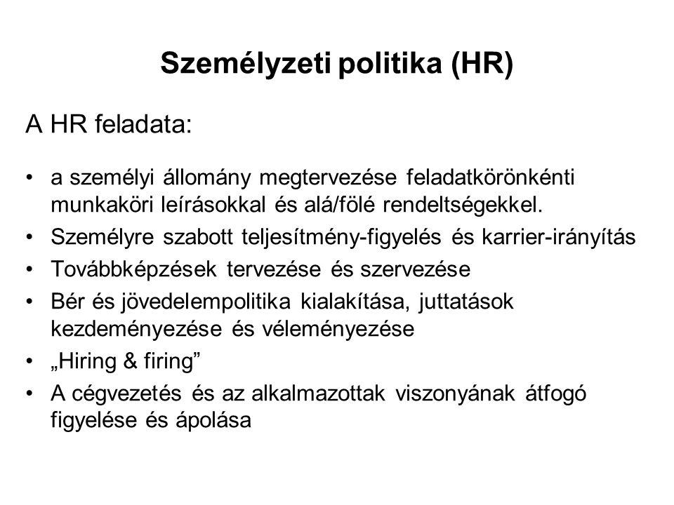 Személyzeti politika (HR)