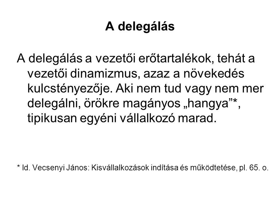 A delegálás