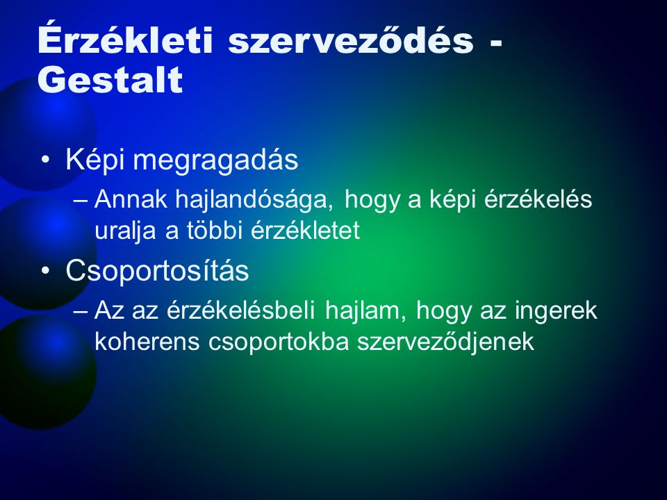 Érzékleti szerveződés - Gestalt
