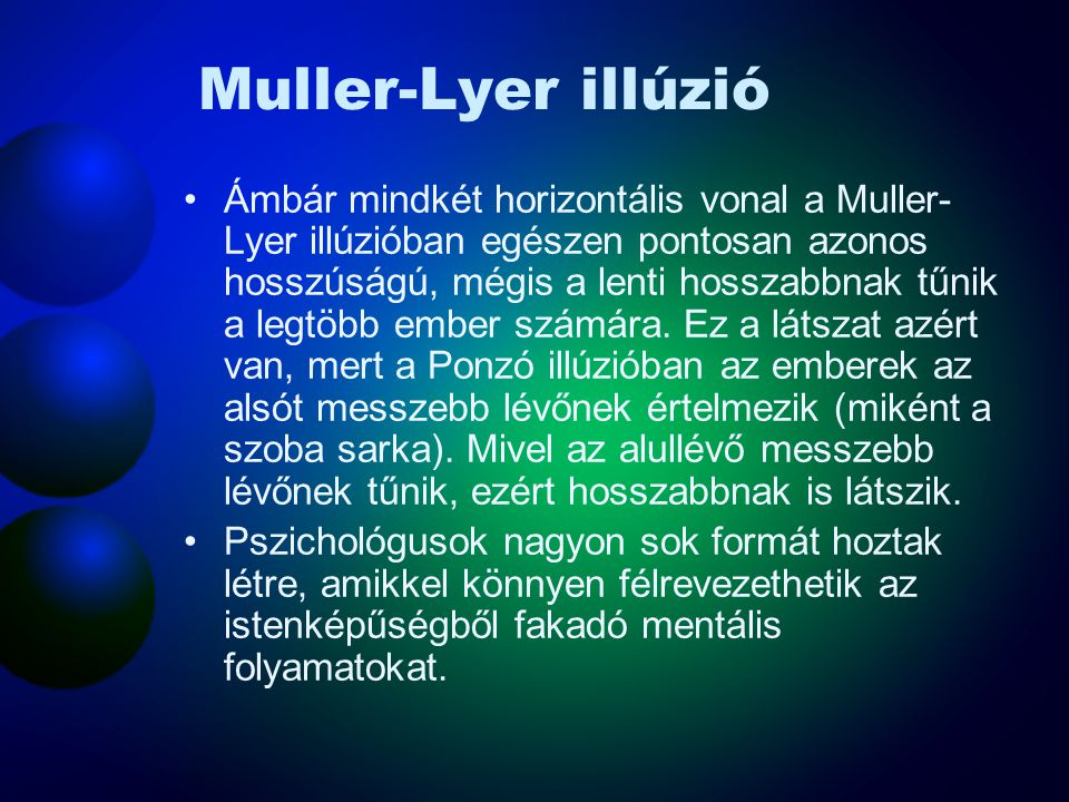Muller-Lyer illúzió