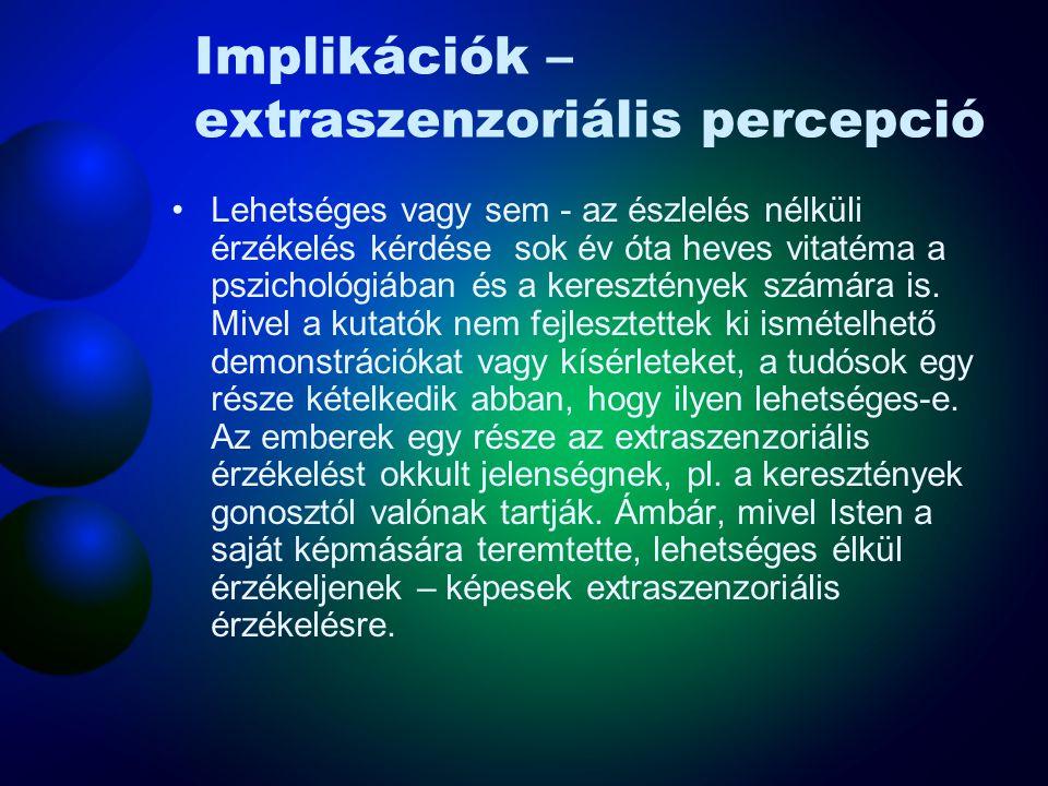 Implikációk – extraszenzoriális percepció