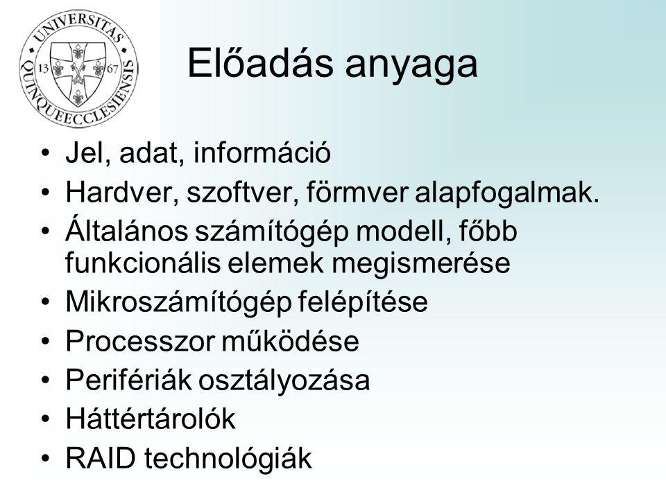 Előadás anyaga Jel, adat, információ