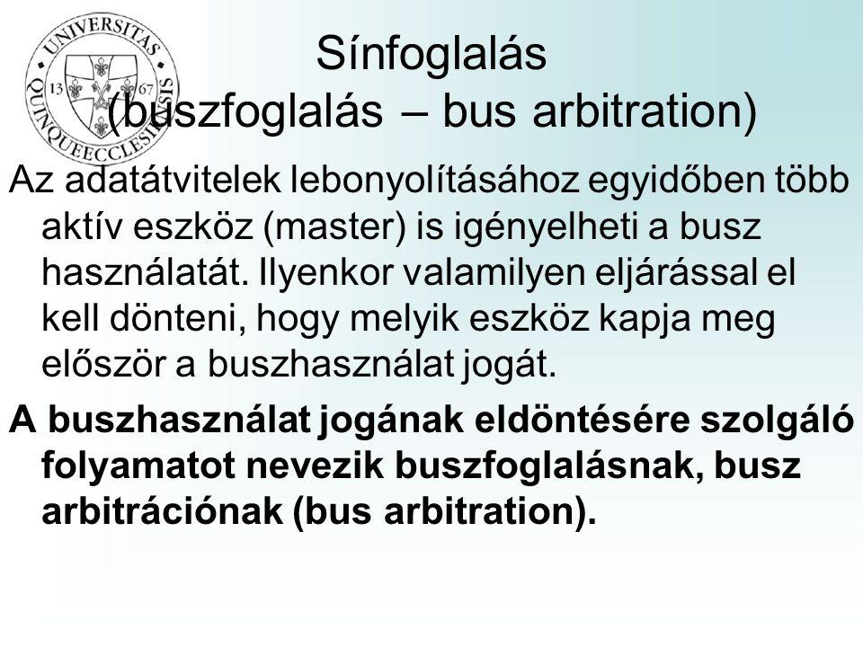 Sínfoglalás (buszfoglalás – bus arbitration)
