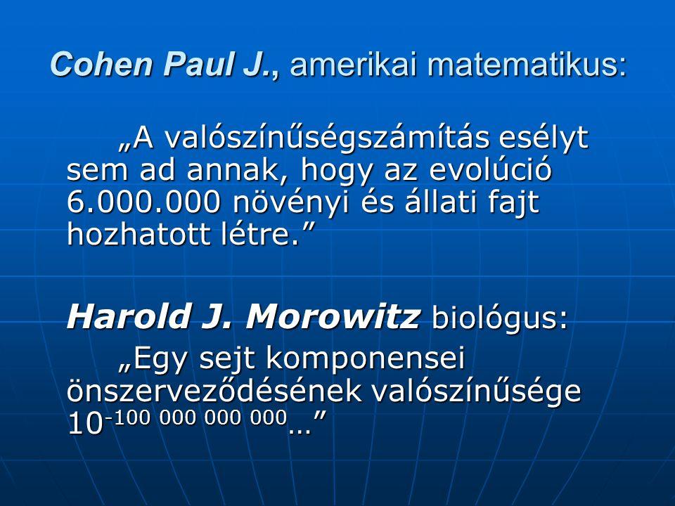 Cohen Paul J., amerikai matematikus: