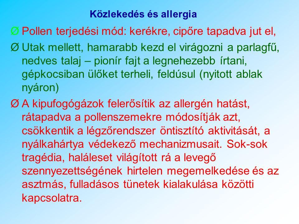 Közlekedés és allergia