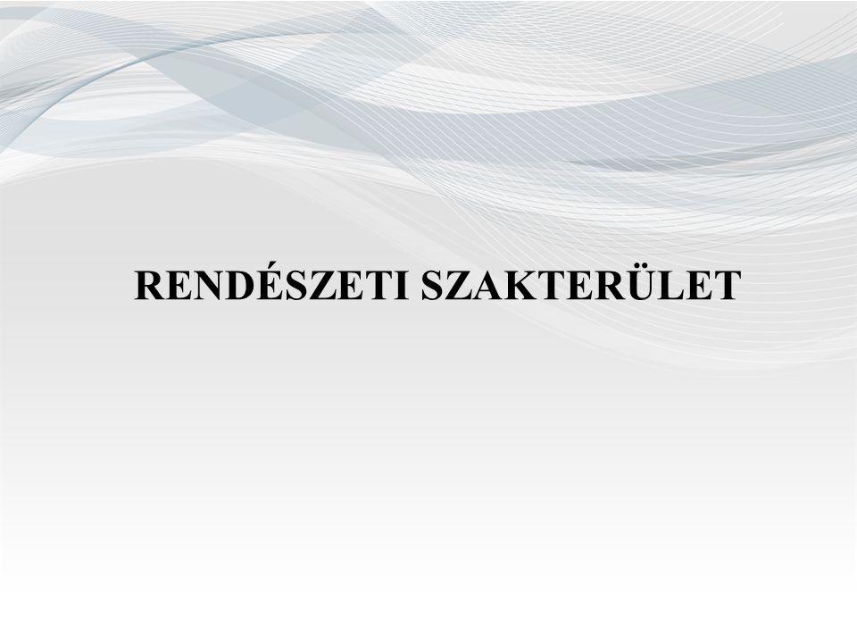 RENDÉSZETI SZAKTERÜLET