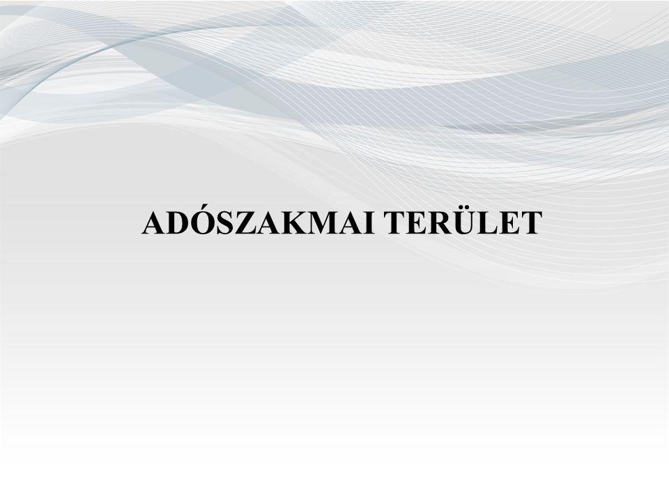 ADÓSZAKMAI TERÜLET