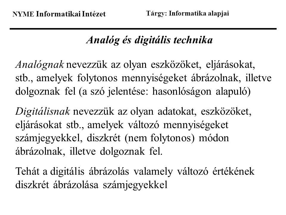 Analóg és digitális technika