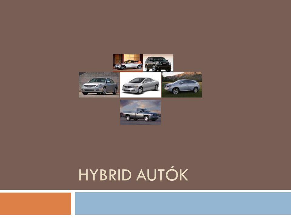 Hybrid autók A projektünk témája az autók és a környezetvédelem, közelebbről a hibrid autók