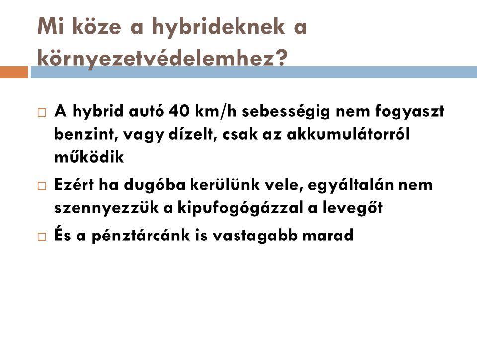 Mi köze a hybrideknek a környezetvédelemhez