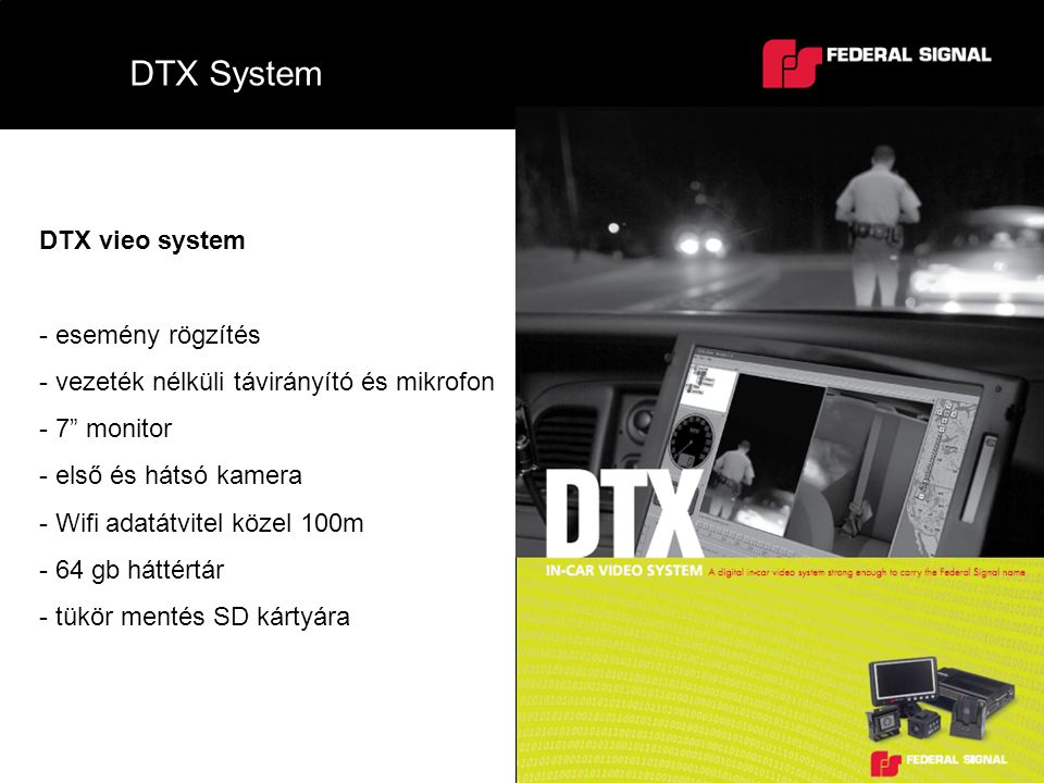 DTX System DTX vieo system esemény rögzítés