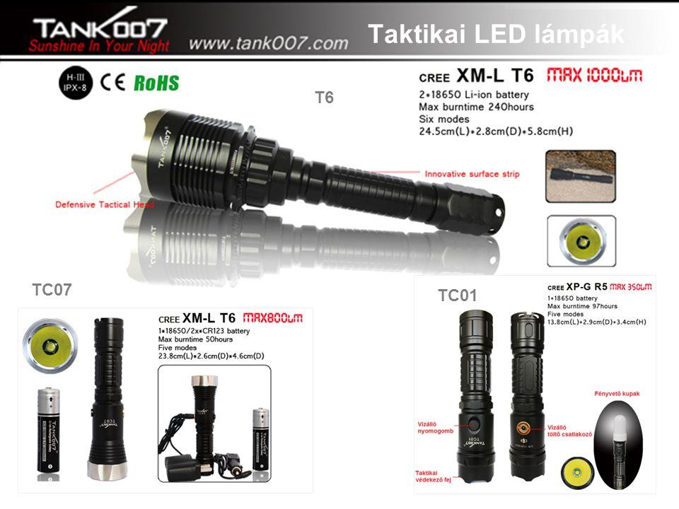 """Taktikai LED lámpák T6 TC07 TC01 """"A tegnap álma, a ma valósága"""