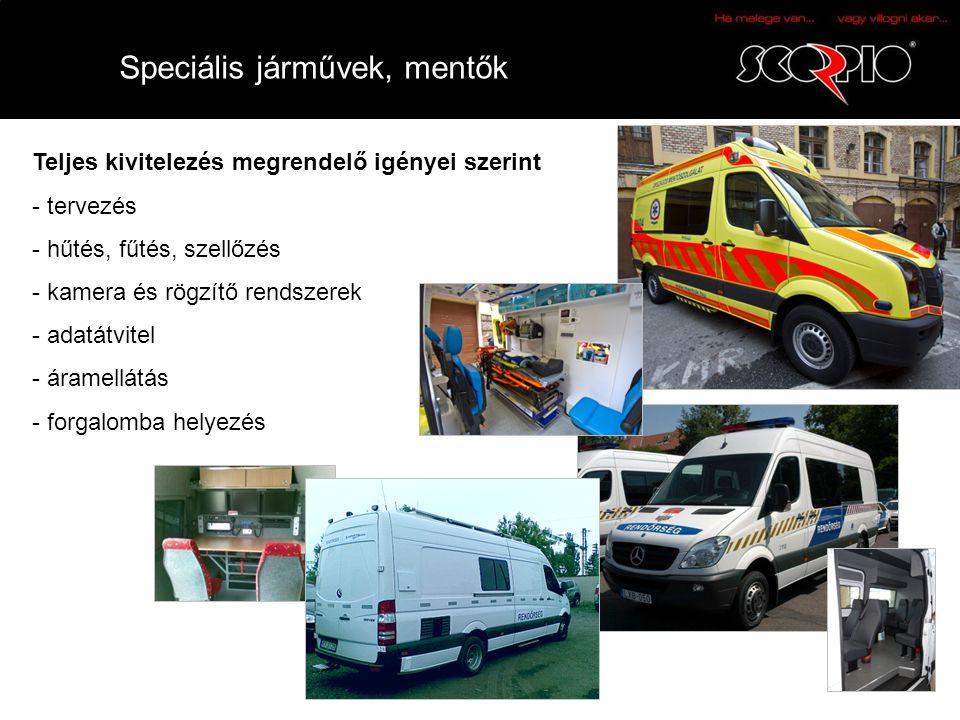 Speciális járművek, mentők