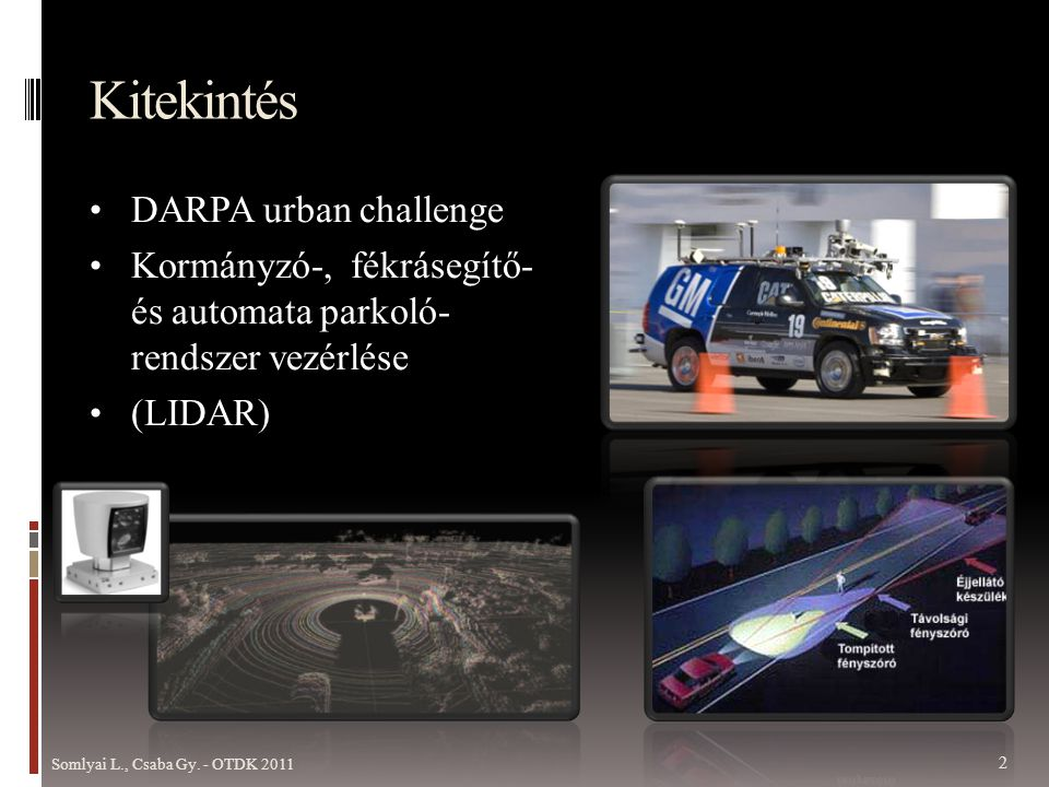 Kitekintés DARPA urban challenge