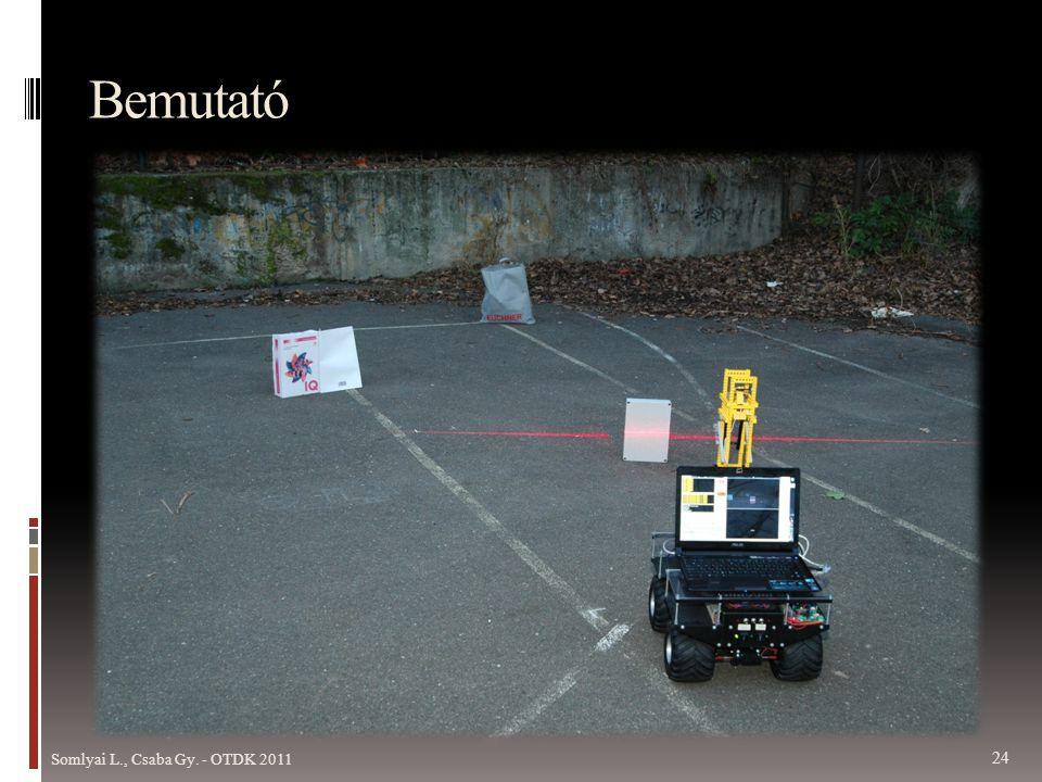 Bemutató Most egy videófelvételen mutatom be a szoftver működését, miközben kollégám elindítja az itt lévő robotot.