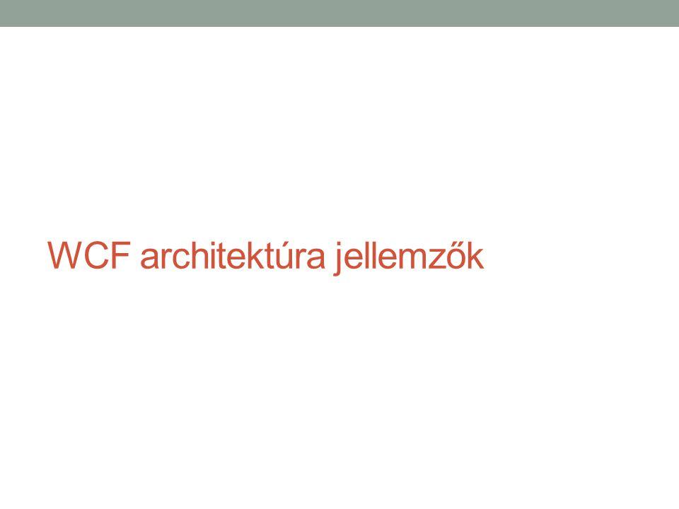 WCF architektúra jellemzők