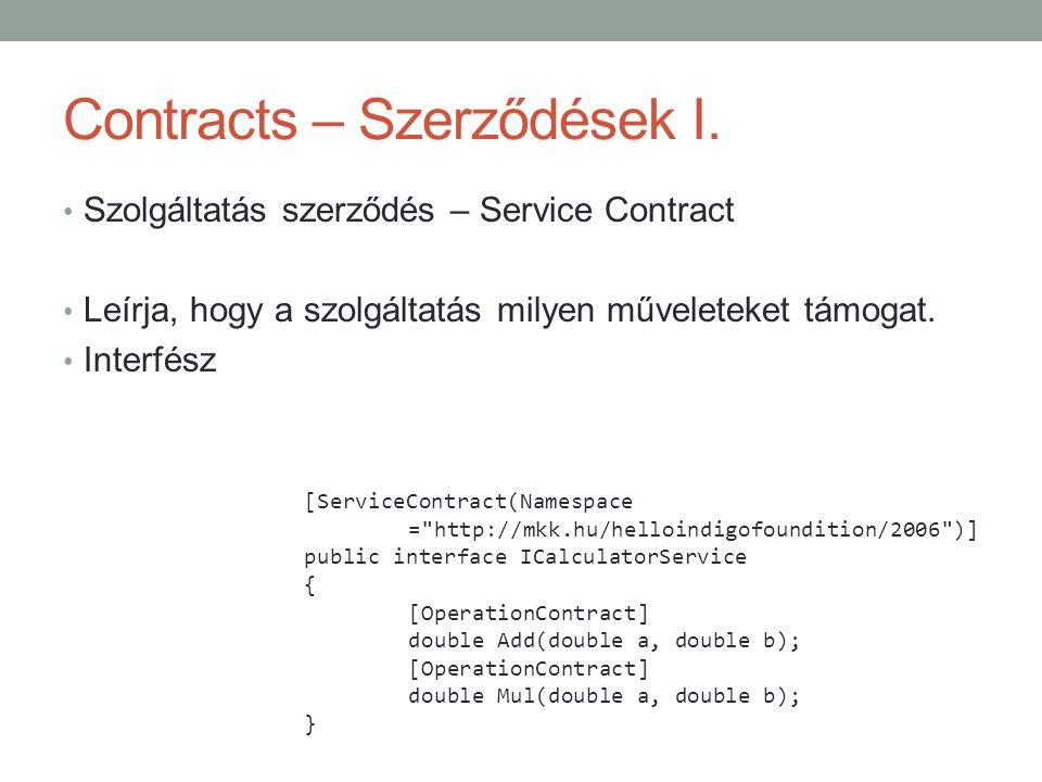 Contracts – Szerződések I.