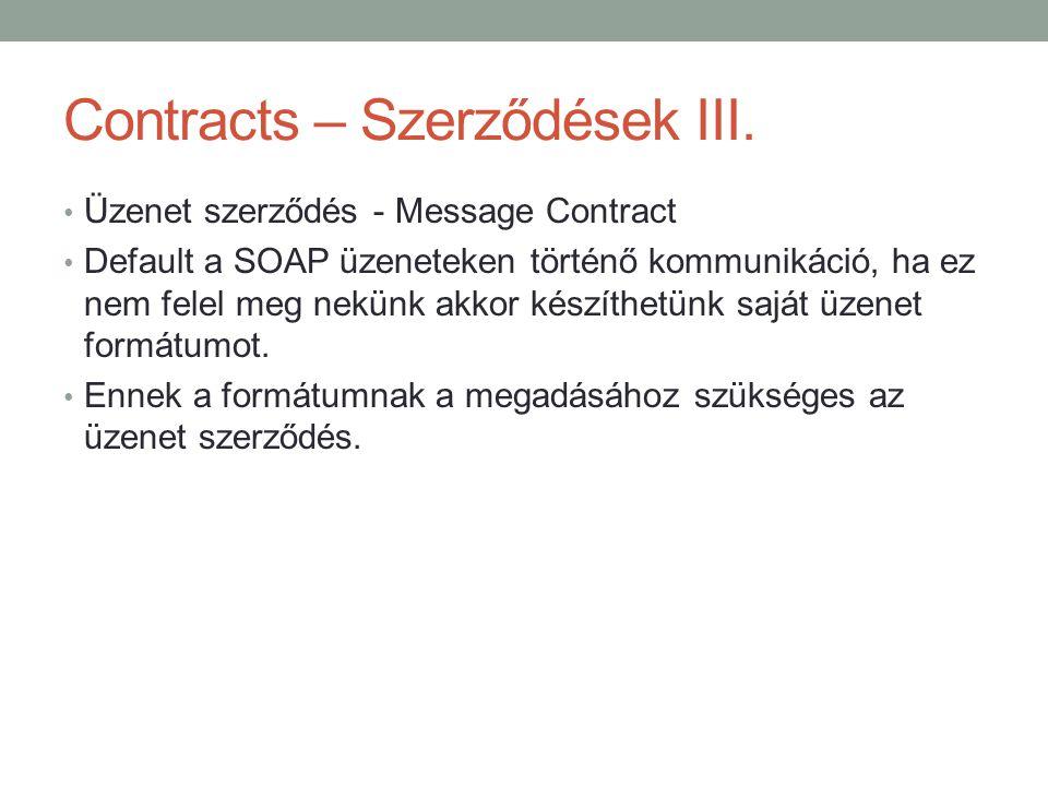 Contracts – Szerződések III.