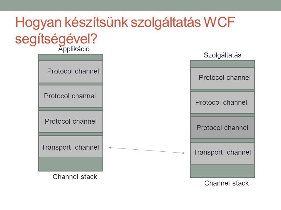 Hogyan készítsünk szolgáltatás WCF segítségével