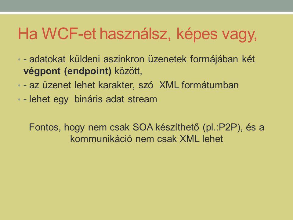 Ha WCF-et használsz, képes vagy,