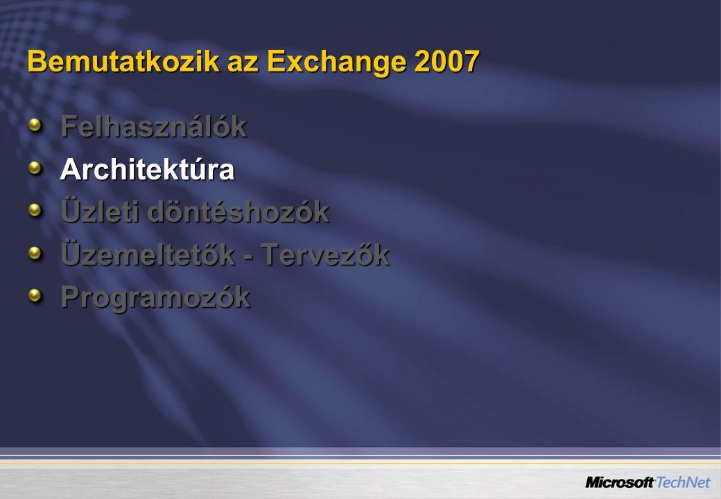 Bemutatkozik az Exchange 2007