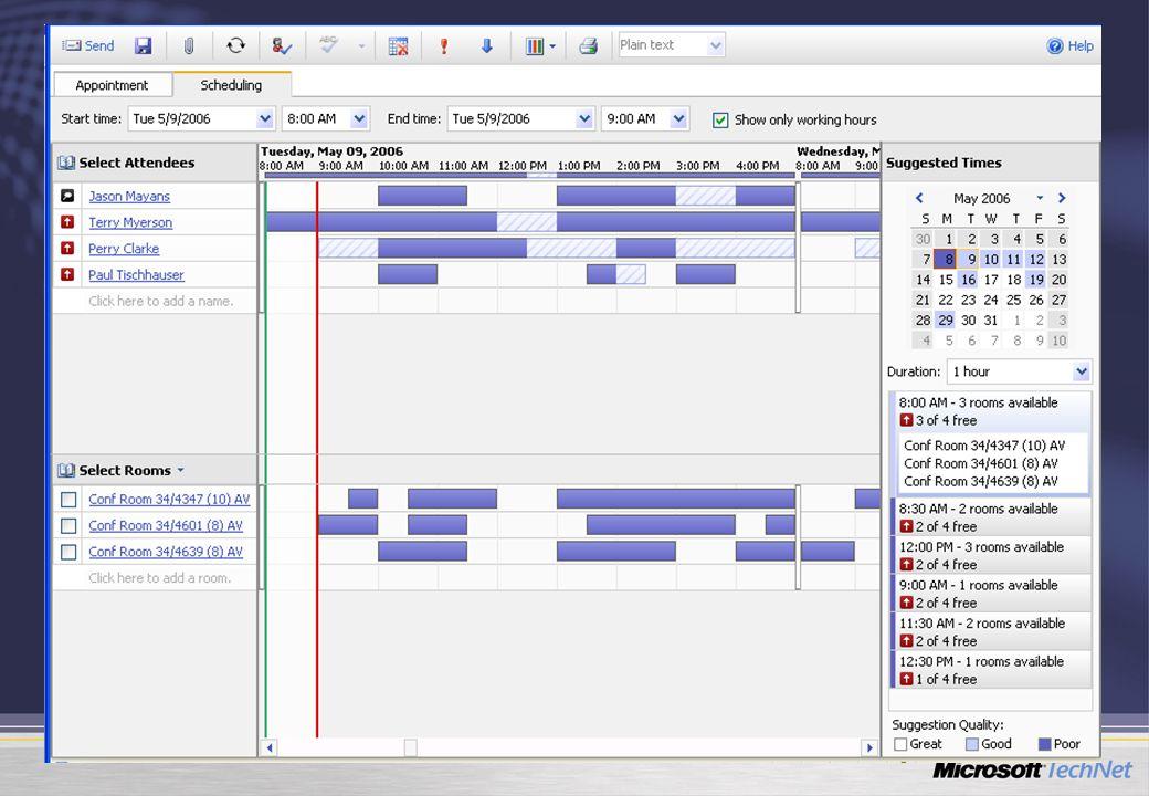 Scheduling Assistant Friss élő adatok Javított biztonság
