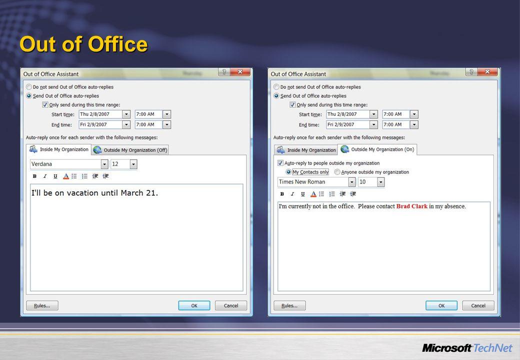 Out of Office Az Out-of-office üzenetek küldése új lehetőségekkel bővült: