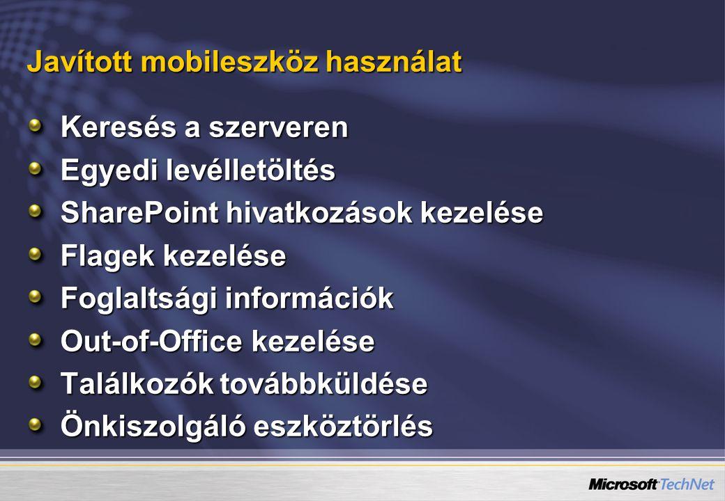 Javított mobileszköz használat