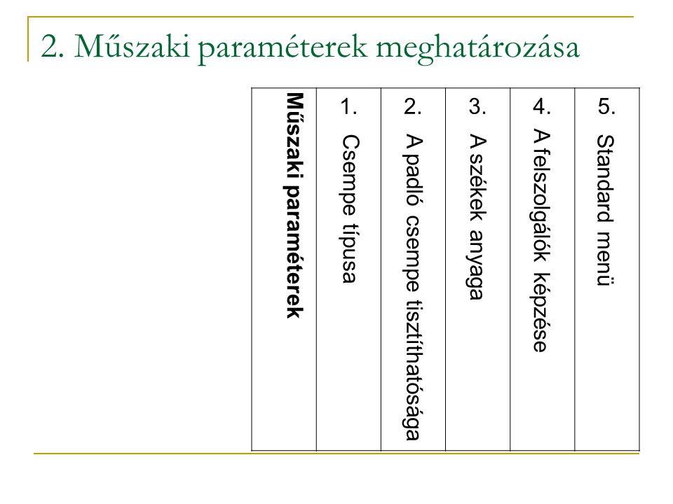 2. Műszaki paraméterek meghatározása
