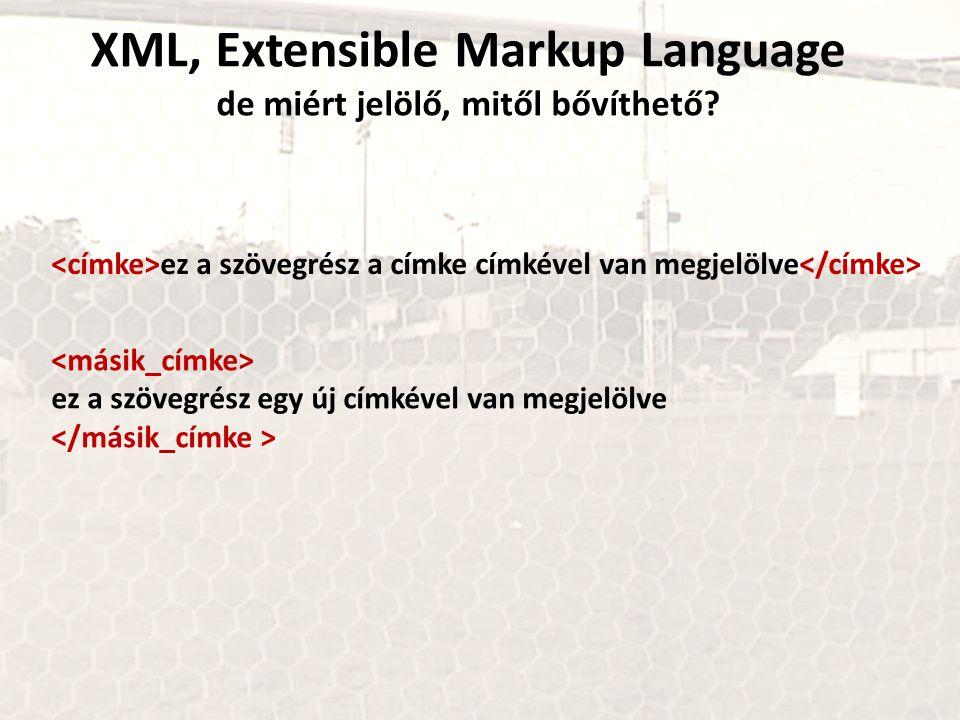 XML, Extensible Markup Language de miért jelölő, mitől bővíthető