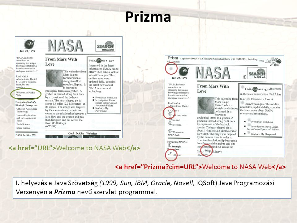 Prizma <a href= URL >Welcome to NASA Web</a>