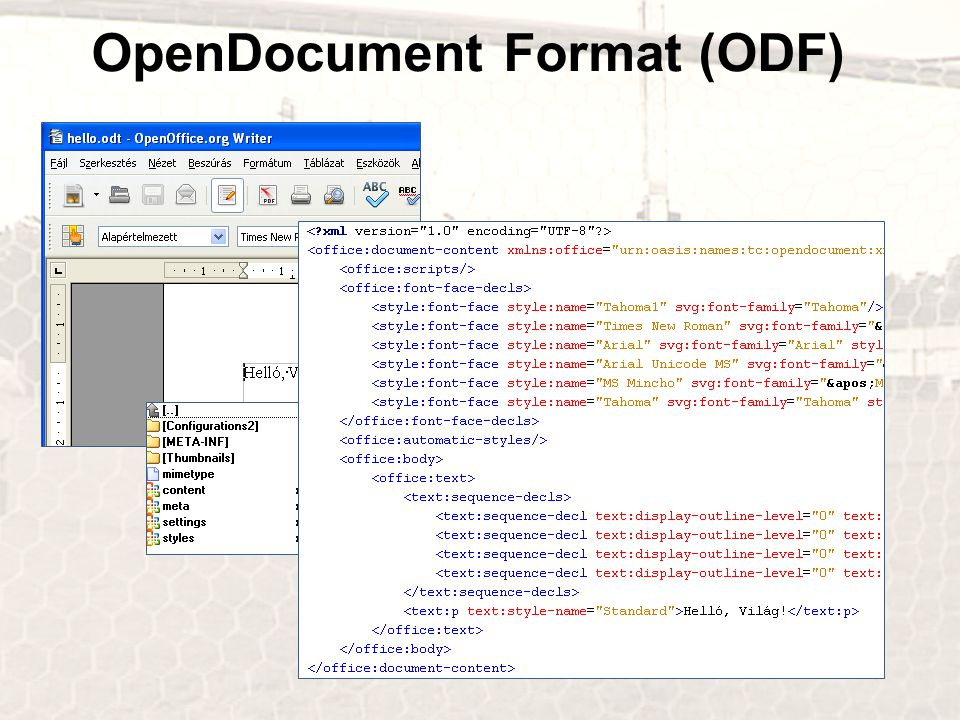 OpenDocument Format (ODF)
