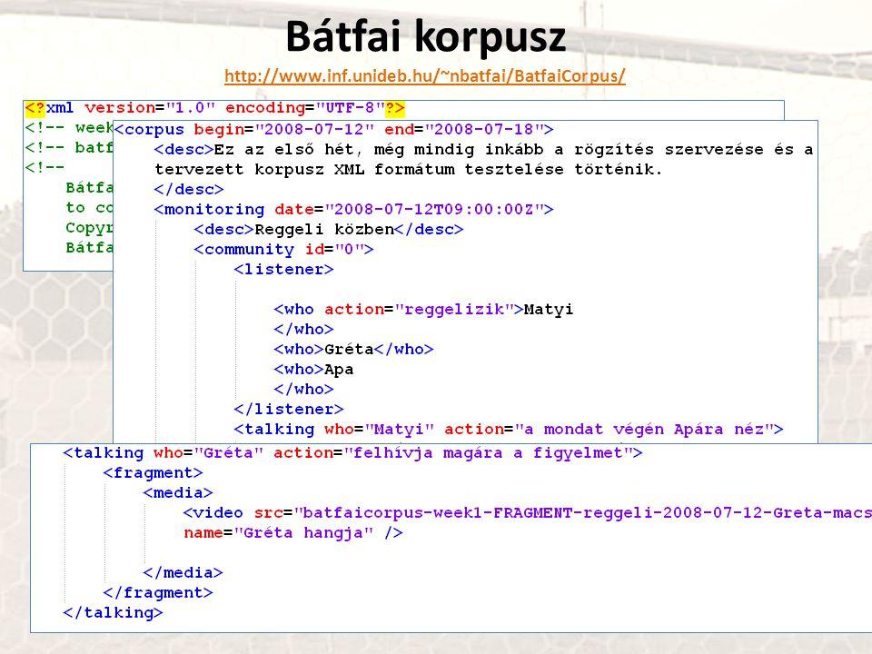 Bátfai korpusz http://www.inf.unideb.hu/~nbatfai/BatfaiCorpus/