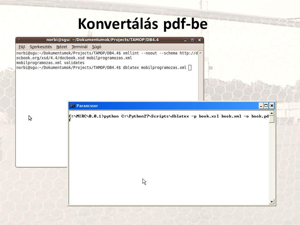 Konvertálás pdf-be