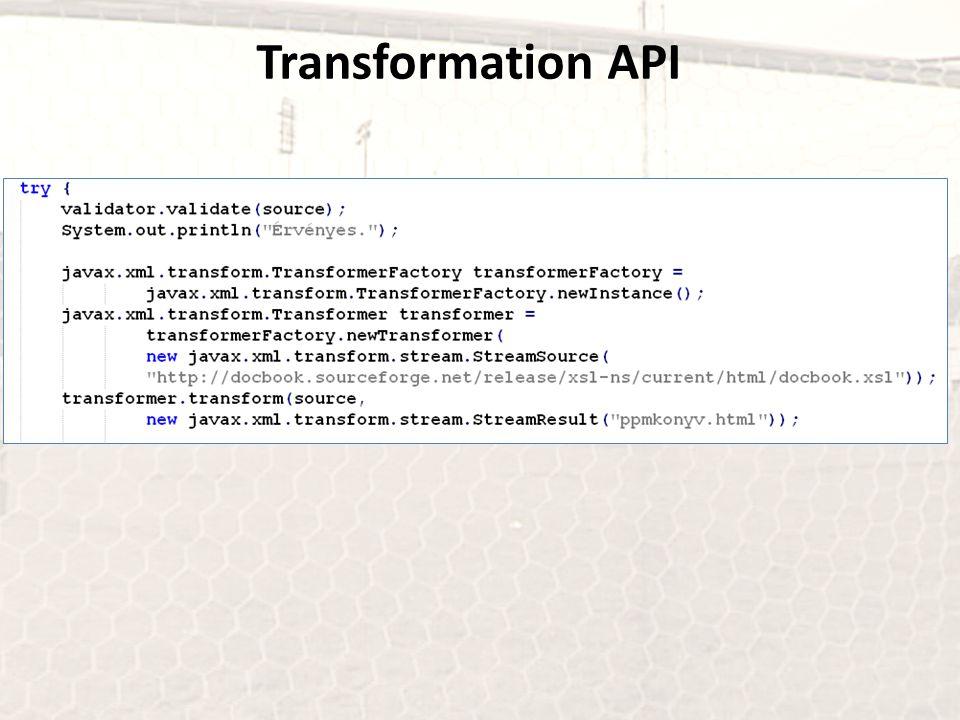 Transformation API