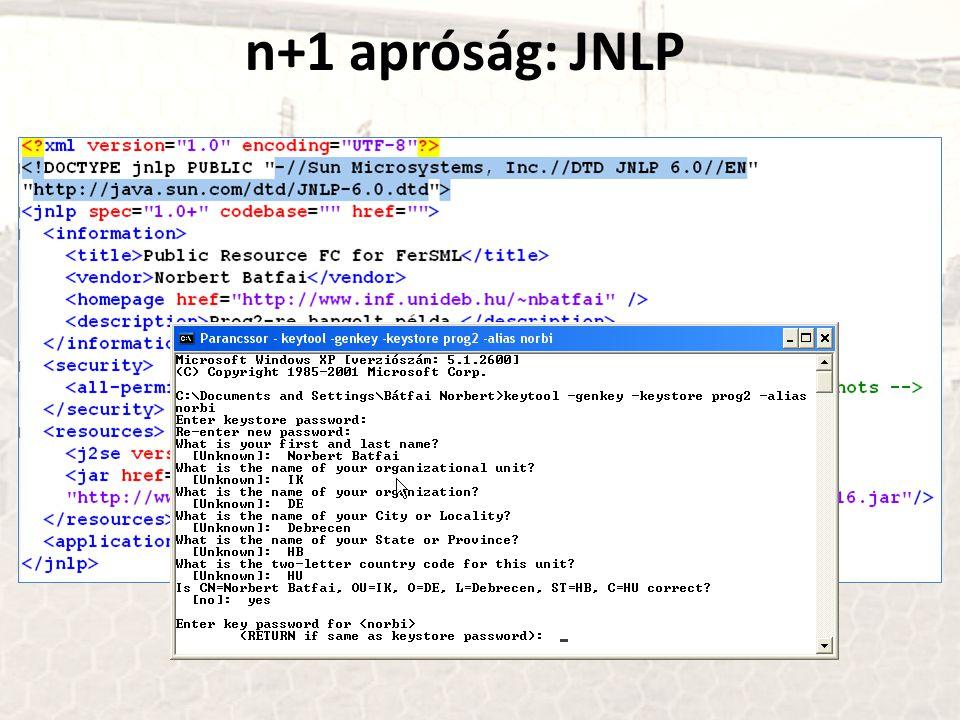 n+1 apróság: JNLP