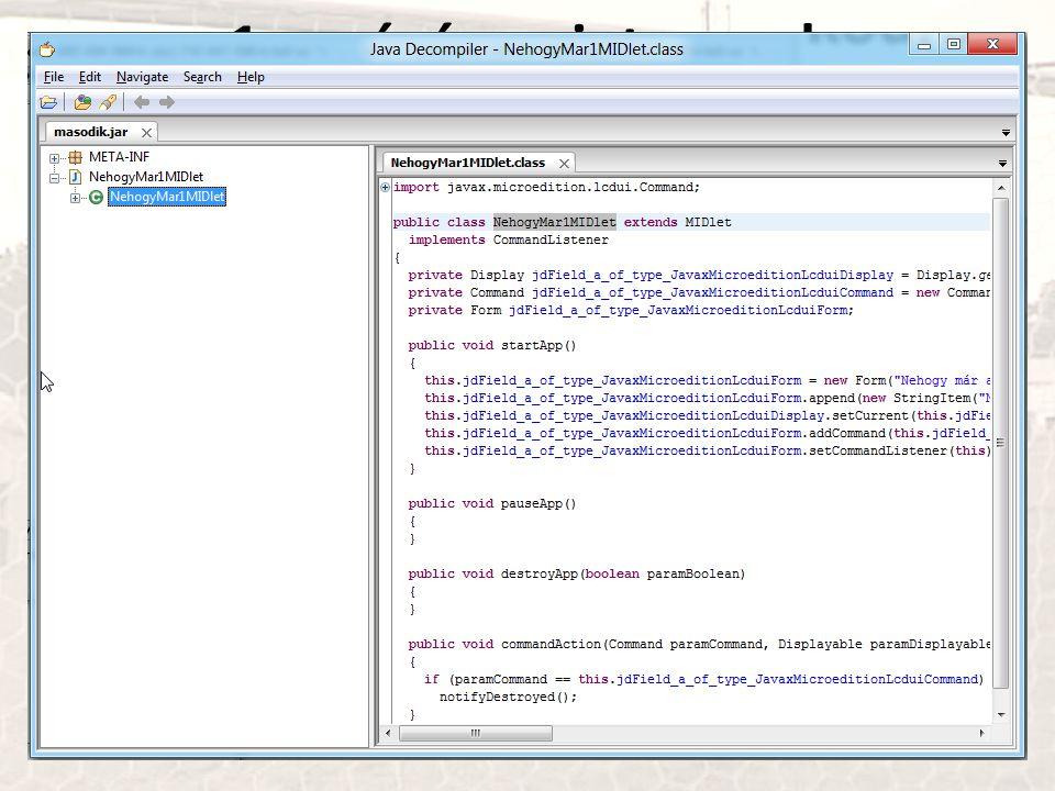 n+1 apróság: mint mond a decompiler az obfuszkált kódra