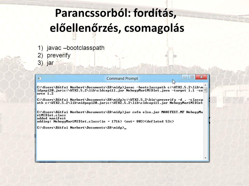 Parancssorból: fordítás, előellenőrzés, csomagolás