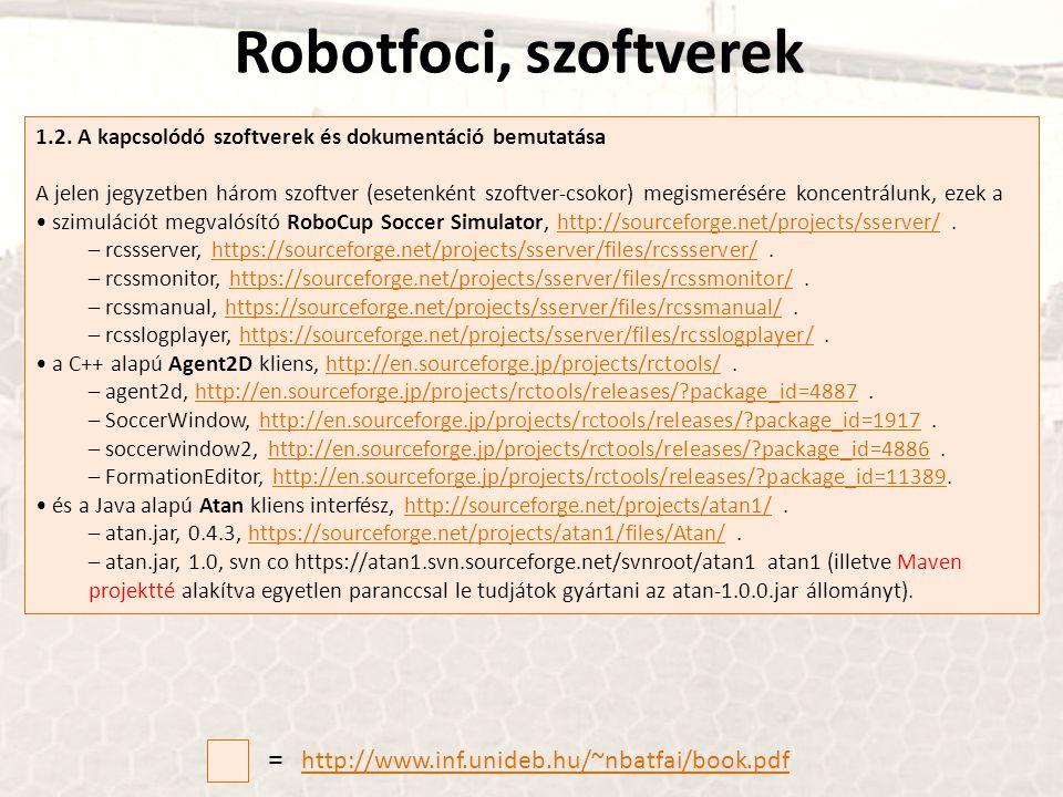 Robotfoci, szoftverek = http://www.inf.unideb.hu/~nbatfai/book.pdf