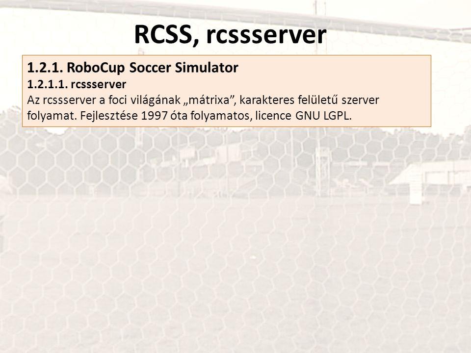 RCSS, rcssserver 1.2.1. RoboCup Soccer Simulator 1.2.1.1. rcssserver