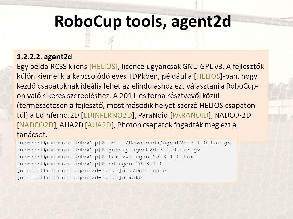 RoboCup tools, agent2d 1.2.2.2. agent2d
